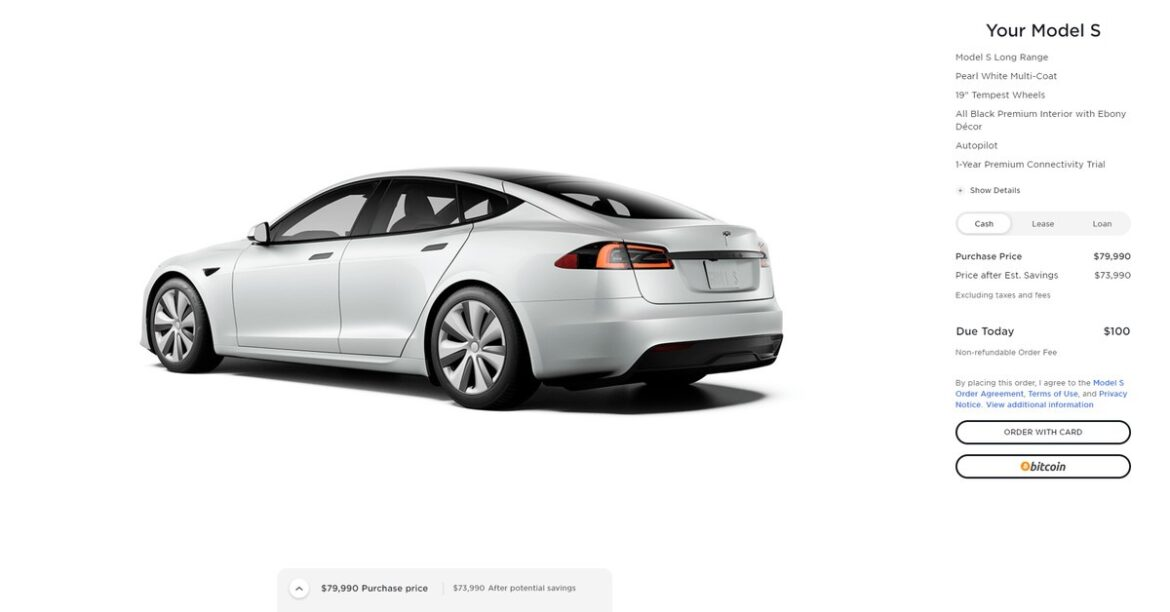 You can now buy a Tesla with bitcoin in the US